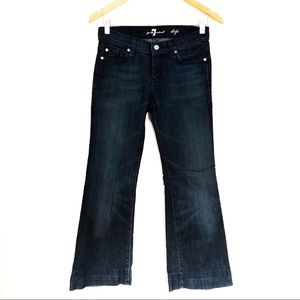 {7 FOR ALL MANKIND} DOJO Dark Wash Flared Jeans 26